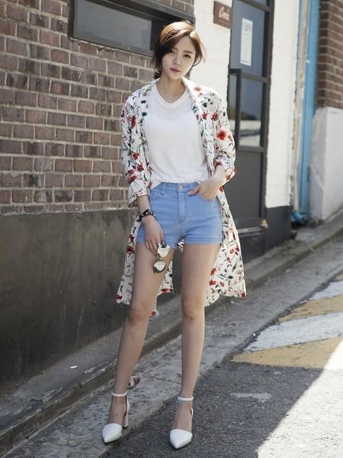 韓国ファッション「ガールズルール」① 花柄ロングシャツがおしゃれ!
