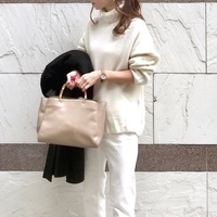 ニットコーデのマンネリを解消♡「白ニット」の着まわしコーデ