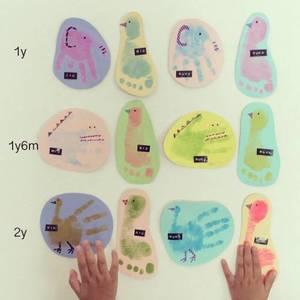 子供の成長記録をオシャレに可愛く残そう♪『手形&足形』を取る方法