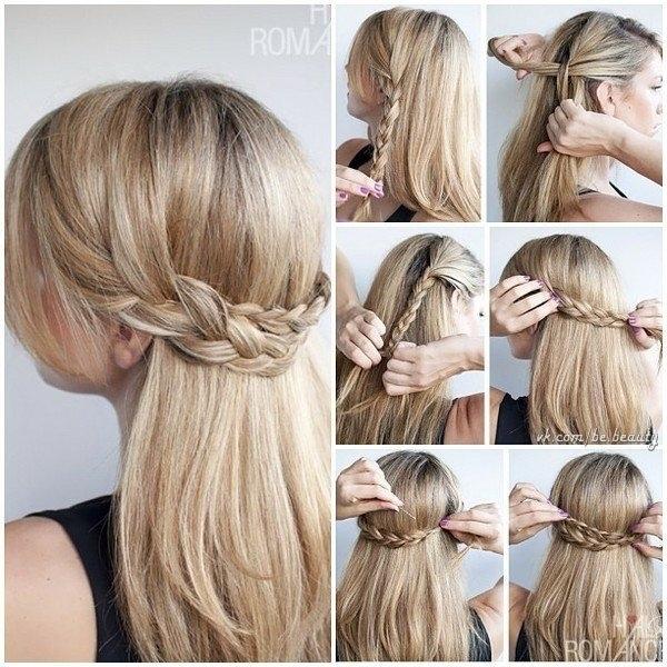 三つ編みを使った簡単なヘアアレンジ④ハーフアップは、ひと手間加えるとオシャレ♡