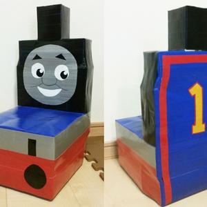 電車好きキッズが大喜び♪牛乳パック椅子の作り方【トーマス編】