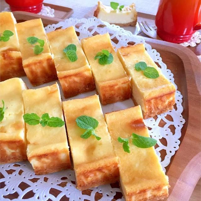 持ち寄りホームパーティーで喜ばれる簡単絶品レシピ④一口チーズケーキ