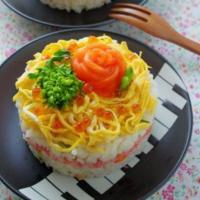 コストコのサーモンで簡単に♪ひな祭りの可愛いパーティー寿司レシピ