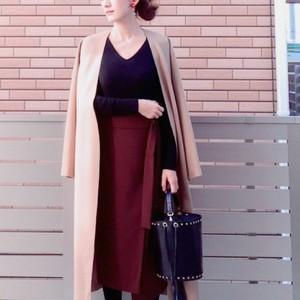体型隠しにもってこい♪「ラップスカート」で作る2016冬コーデ