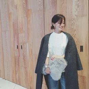 第一子妊娠中の安田美沙子さんに学ぶ♡冬の愛されプレママコーデ