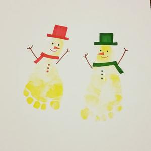 クリスマスの記念に♪子どもと楽しめるクリスマスの手形・足形アート