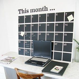 貼るだけでおしゃれな部屋に♪黒板シートのDIYアイディア集