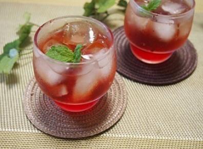 色(肝)斑消失+疲勞消除=「紅紫蘇果汁」~配方大公開♪その8