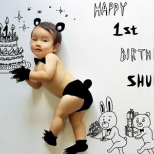 可愛創新又能做紀念♡《簡單生日照片》的塗鴉藝術idea♪